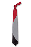 Red Gray & Black Eclipse Tie Front