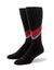Red & Gray Swoop Socks