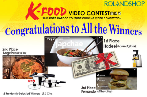 Rolandshop k food cooking video contest winners rolandshop we would like to congratulate all of the lucky winners of our k food video contest forumfinder Gallery