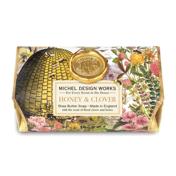 Michel Design Large Bath Soap, Honey & Clover