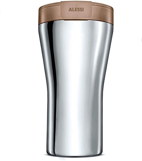 Alessi Caffa Travel Mug, Brown