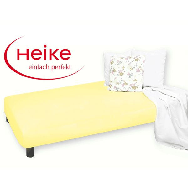 Heike Mako-Jersey Mattress Cover, Yellow