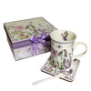 Delton Tea Cup Set Of 3 Mug, Spoon & Coaster