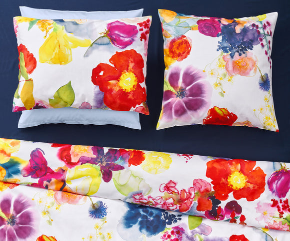 Christian Fischbacher Duvet Cover Set, FLOWER POWER SATIN