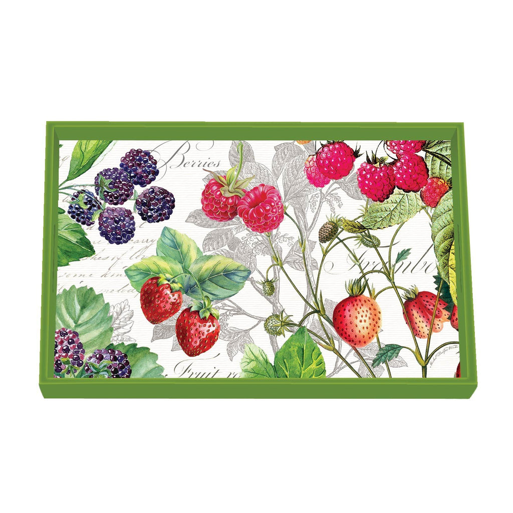 Michel Design Works Wooden Vanity Tray, Berry Patch