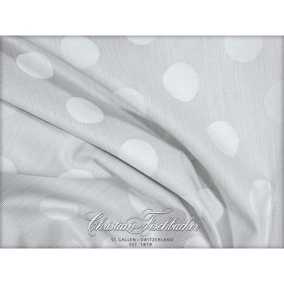 Christian Fischbacher Duvet Cover Set, POLKA JACQUARD LIGHT GREY
