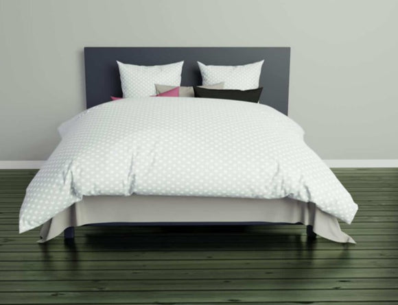 Christian Fischbacher Duvet Cover Set, POLKA JACQUARD PALE WATERGREEN