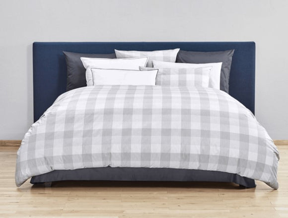 Christian Fischbacher Duvet Cover Set, QUADRATO Renforcé GREY