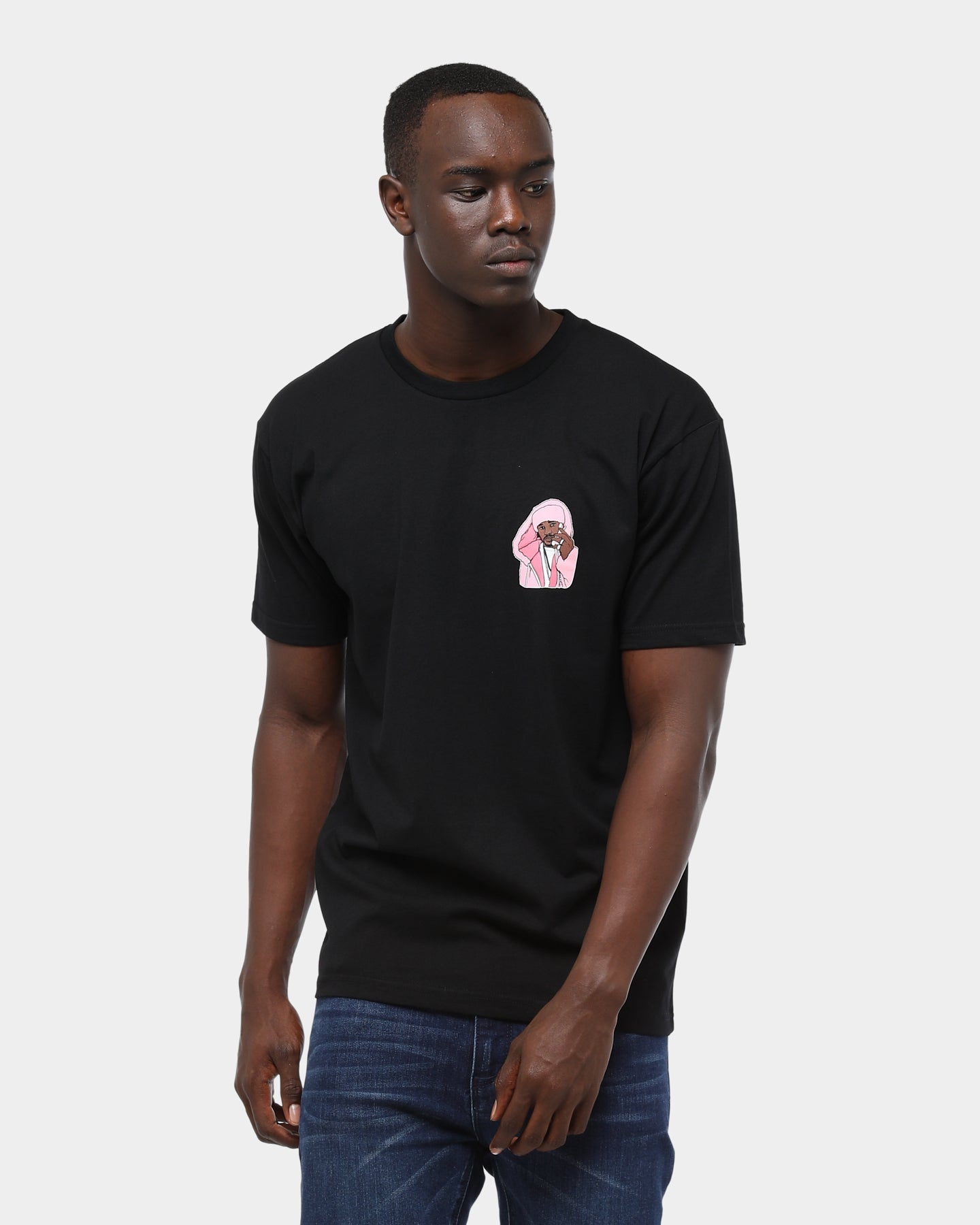CAM RAPPER HEAD TEE - Black