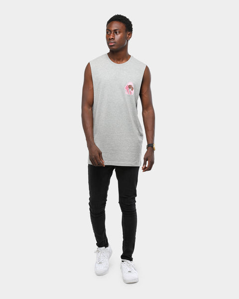 CAM RAPPER HEAD MUSCLE TEE - Grey