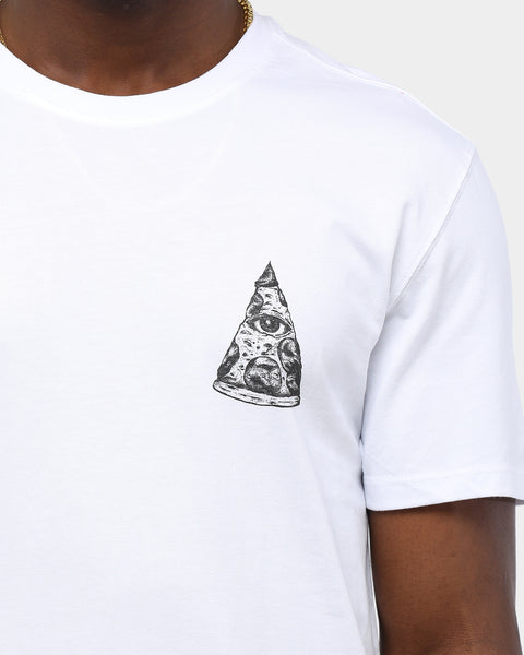 ALL EYE SEE IS PIZZA TEE - White