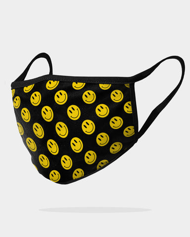 SMILEY FACE MASK - Black