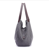 Women Canvas Bags High Quality Women Tramps One-shoulder Bags Vintage Solid Multi-Pocket Ladies Bags