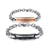 STAINLESS STEEL I LOVE YOU MOST COUPLE'S BRACELET