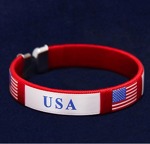USA American Flag Bracelet for Men Women