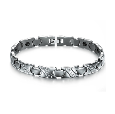 STAINLESS STEEL FASHION MEN'S CRYSTAL BRACELET