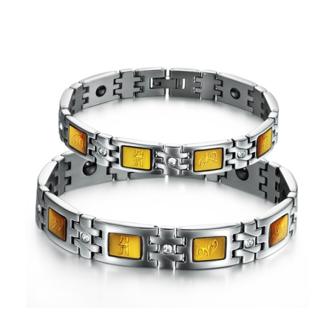 STAINLESS STEEL FASHION COUPLE'S BRACELET