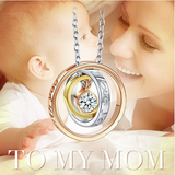I Love You Mom Necklace Gold Plated Pendant