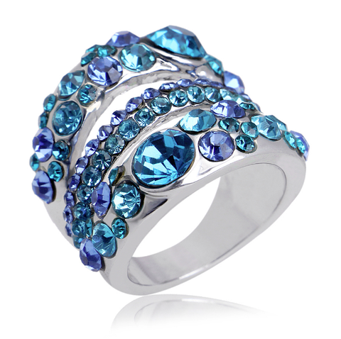 White Gold Plated Austrian Crystal GP Luxury Ring