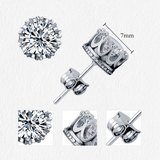 Gold Plated CZ Crystal Crown Stud Earrings