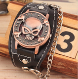 Fashion Skull Cover Men Women Bikers Quartz Watch