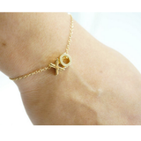 Gold Plated Initial Letters Personalized  Bracelet