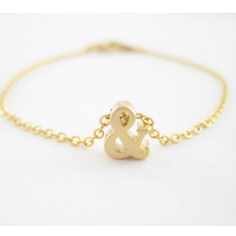 "Gold Plated ""&"" Letter Personalized Bracelet"
