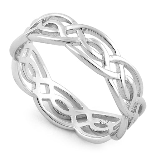 925 Sterling Silver Infinity Celtic Ring