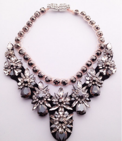 Luxury choker shourouk statement bib crystal Necklace