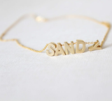 Custom Made Gold Plated Name Initial Letters Necklace