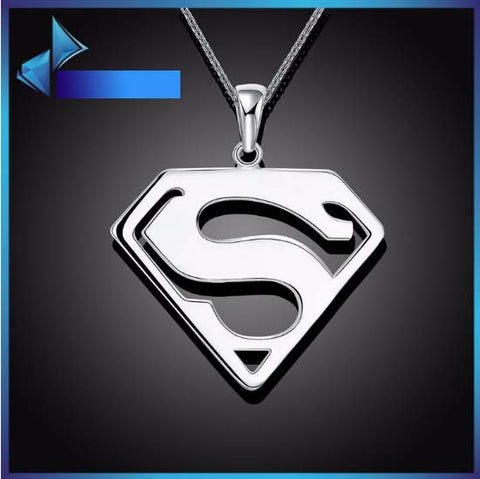 Unisex Man of Steel Silver Necklace Pair