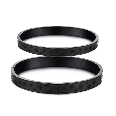BLACK TITANIUM COUPLE'S BRACELET