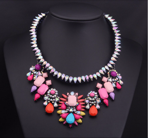 Choker Crystal bib Shourouk statement Necklace