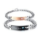 STAINLESS STEEL TRUE LOVE COUPLE'S BRACELET