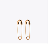 24K Gold Plated Stainless Steel Safety Pin earrings
