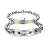 STAINLESS STEEL YOU ARE MY ONLY LOVE COUPLE'S BRACELET