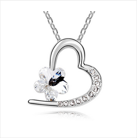 LOVE HEART CRYSTAL NECKLACE