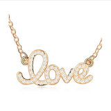 GOLD PLATED FOREVER LOVE CRYSTAL NECKLACE