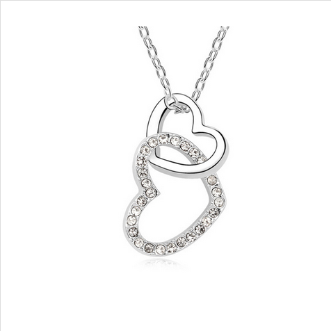 HEART TO  HEART CRYSTAL NECKLACE