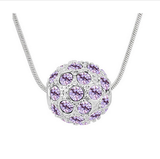 CRYSTAL MULTICOLOR BALL NECKLACE