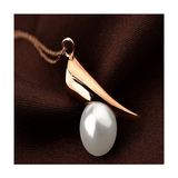 FRESH WATER PEARL CRYSTAL NECKLACE PENDANT