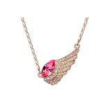 WING PENDANT CRYSTAL NECKLACE JEWELRY