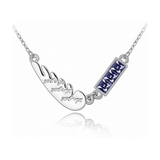 WHITE GOLD PLATED LOVE ANGEL WING NECKLACE