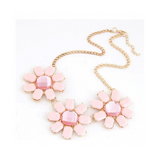 PARIS CLASSIC WEALTHY FLOWER STATEMENT NECKLACE