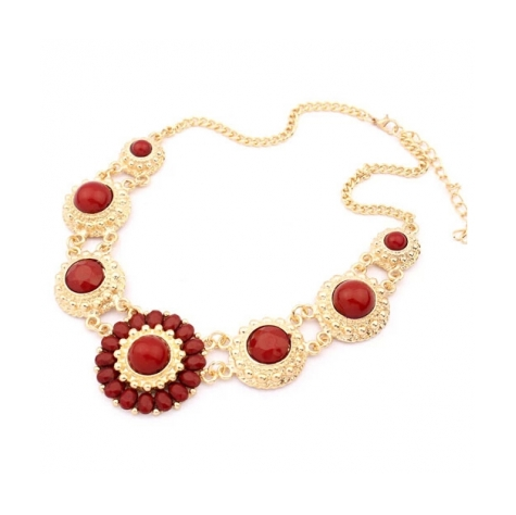 VINTAGE SUNFLOWER LUXURY STATEMENT NECKLACE