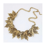 WILD MAPLE LEAF STATEMENT NECKLACE