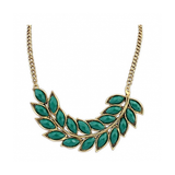 CHARMING EXAGGARATED LEAF NECKLACE