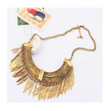 RUSTIC GOLD SKY PANTHER STATEMENT NECKLACE