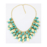 CANDY COLOR LEAF NECKLACE