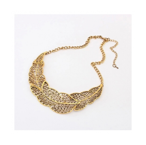 VINTAGE LEAF STATEMENT NECKLACE